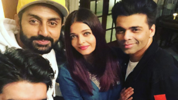 Check out Aishwarya Rai Bachchan and Abhishek Bachchan enjoy some downtime with Karan Johar and Manish Malhotra