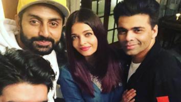 Check out Aishwarya Rai Bachchan and Abhishek Bachchan enjoy some downtime with Karan Johar and Manish Malhotra