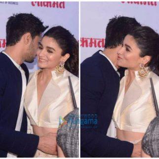 Check out Alia Bhatt and Sidharth Malhotra share a sweet hug at Lokmat Awards