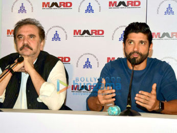 Farhan Akhtar at 'Bas Ab Bahut Ho Gaya' campaign's press conference organized by MARD