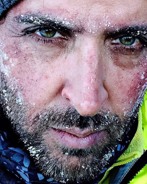 Hrithik Roshan shoots in a freezing cold location