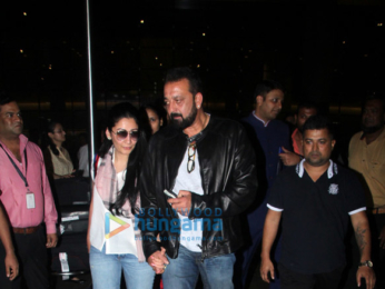 Jacqueline Fernandez and Sanjay Dutt snapped at the airport