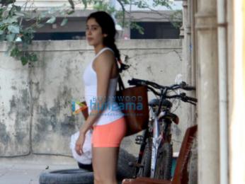 Janhvi Kapoor spotted post gym