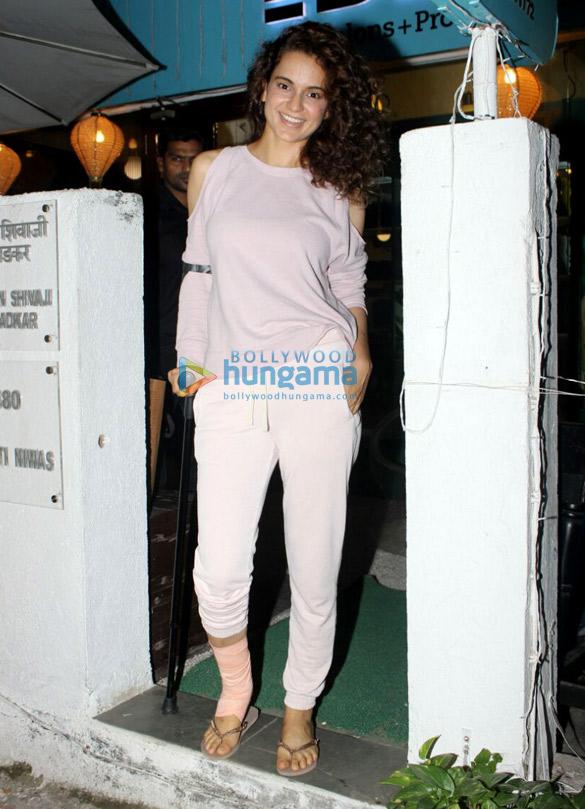 Kangana Ranaut and Shraddha Das snapped at BBLUNT