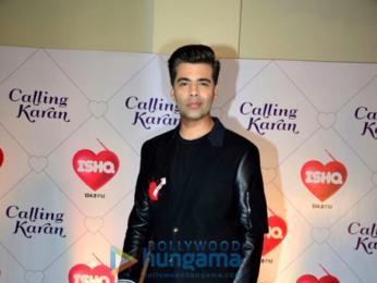 Karan Johar snapped at press meet for Ishq FM