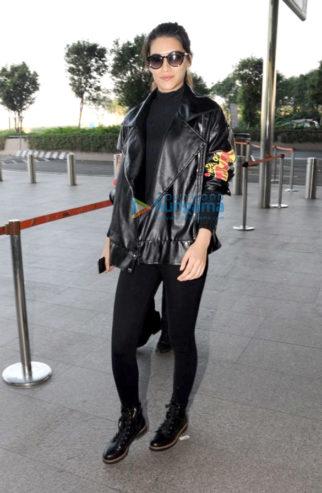 Kriti Sanon and Sanjay Leela Bhansali snapped at the airport