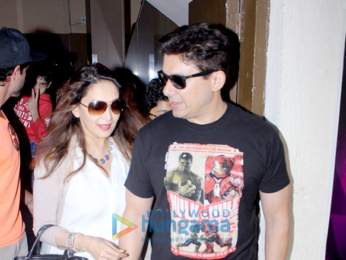 Madhuri Dixit and Hrithik Roshan snapped at PVR Juhu
