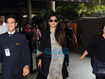 Madhuri Dixit and Raveena Tandon snapped at the airport