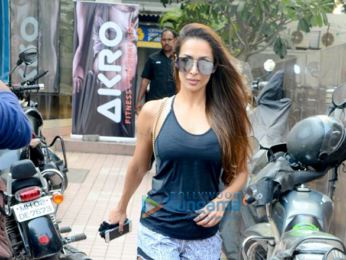 Malaika Arora snapped outside her gym in Bandra