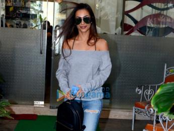 Malaika Arora snapped outside her salon