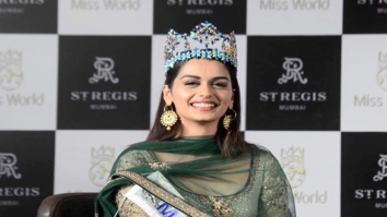 Manushi Chhillar snapped at a press meet