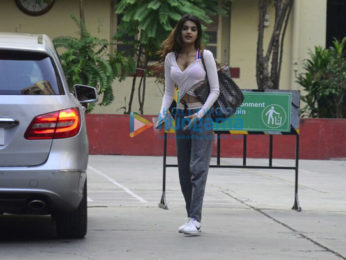 Nidhhi Agerwal snapped at her gym