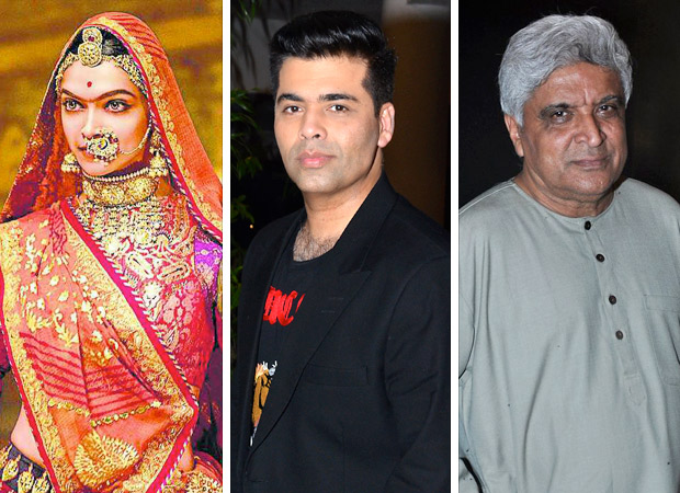 Padmavati row Here's what Karan Johar and Javed Akhtar have to say about the Sanjay Leela Bhansali's film