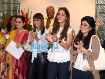 Preeti Jhangiani and Farah Khan Ali at a bonsai exhibition