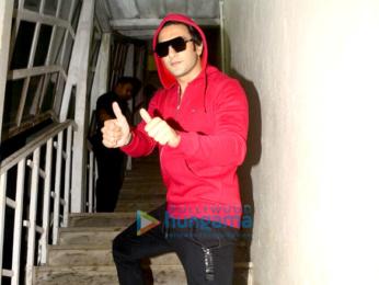 Ranveer Singh snapped sporting a red hoodie