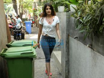 Rhea Chakraborty snapped near Kitchen Garden in Bandra