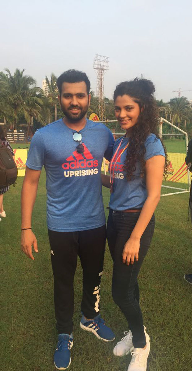 Saiyami Kher flags off Adidas Uprising 3.0 race with cricketers KL Rahul and Rohit Sharma!-03