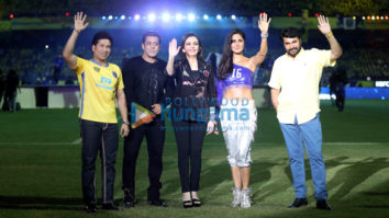 Salman Khan and Katrina Kaif perform at Opening of ISL Ceremony in Kochi