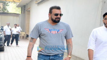Sanjay Dutt and Alia Bhatt attends Sadak 2 meeting at Mahesh Bhatt's office