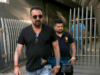 Sanjay Dutt snapped at Avinash Gowariker's office in Khar