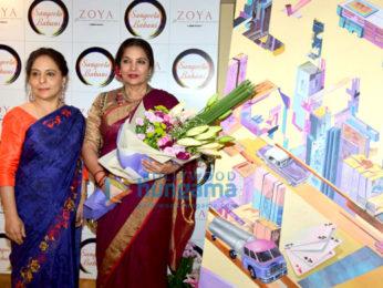 Shabana Azmi graces Sangeeta Babani's painting exhibition