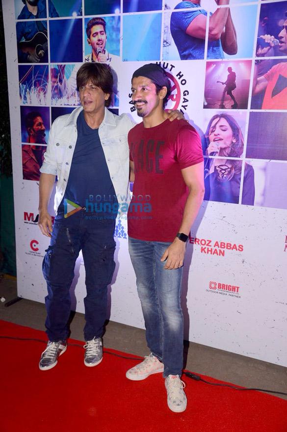 Shah Rukh Khan and Farhan Akhtar at Lalkar concert