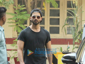 Shahid Kapoor, Kunal Khemu and Karan Singh Grover snapped outside their gym