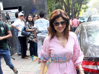 Shilpa Shetty and family snapped in Bandra
