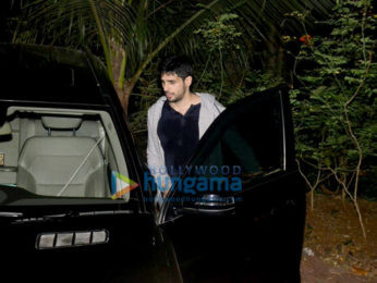 Sidharth Malhotra snapped post dance rehearsals