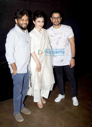 Soha Ali Khan and Kunal Khemu grace the screening of the film 'An Insignificant Man'