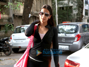Sonal Chauhan spotted at her gym