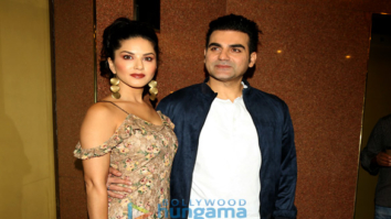 Sunny Leone and Arbaaz Khan at a press meet for Tera Intezaar