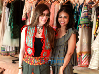 Sussanne Khan and Surily Goel and Kajal Fabiani snapped at a store