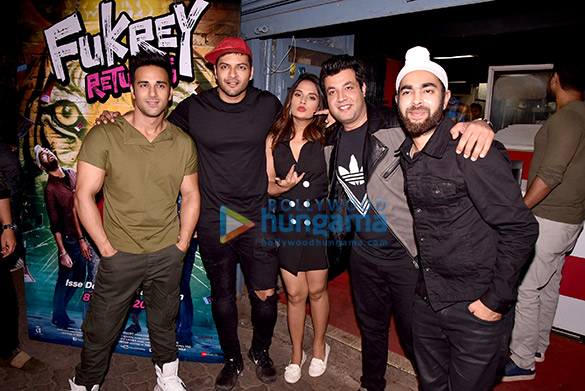 Team of Fukrey Returns snapped promoting the film at various location in Juhu