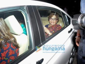 The Khan family celebrate Salim Khan's birthday at his home
