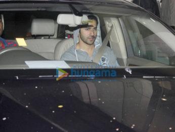 Varun Dhawan snapped outside his gym