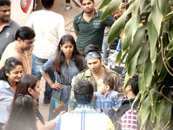 Varun Dhawan spotted at Mehboob studio in Bandra