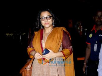 Vidya Balan snapped at the airport