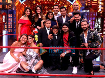Zareen Khan snapped on the sets of Entertainment Ki Raat