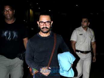 Aamir Khan arrived back from Bangkok