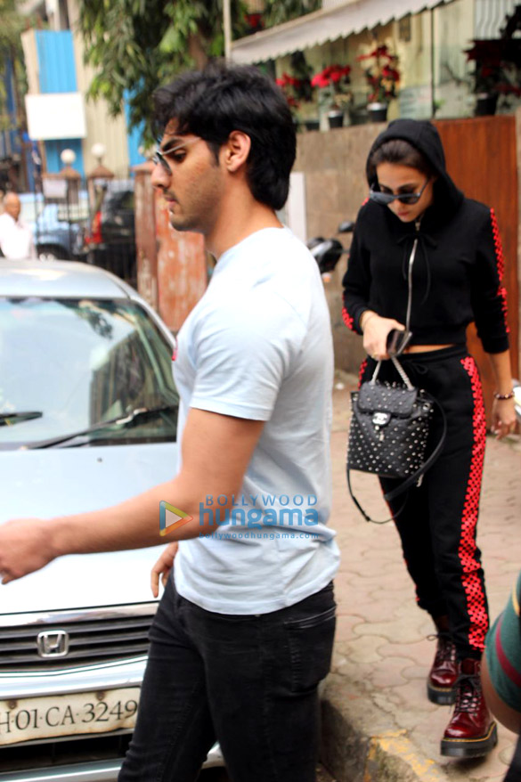Ahaan Shetty spotted with Tania Shroff at Bandra