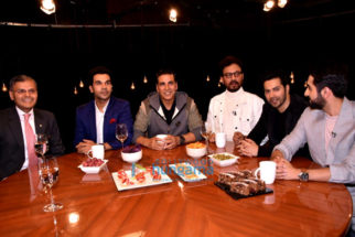 Akshay Kumar, Varun Dhawan, Ayushmann Khurranna and Rajkummar Rao snapped on sets of Rajeev Masand's show
