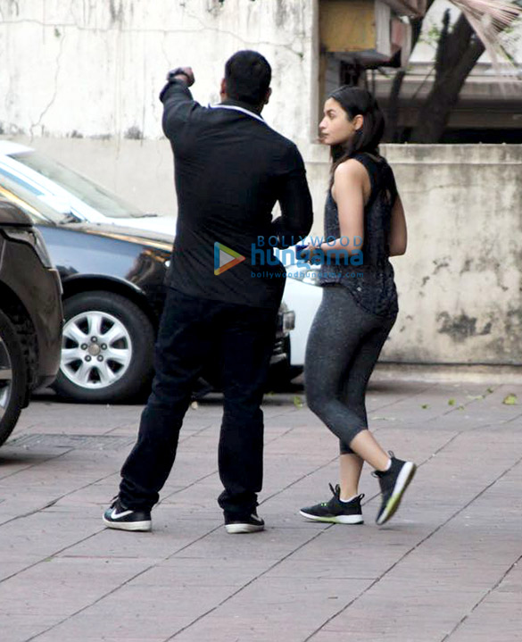 Alia Bhatt snapped at the gym