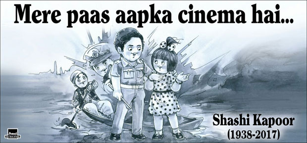 Amul pays a heart-warming tribute to Shashi Kapoor features