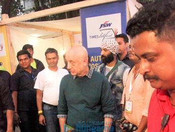 Anupam kher attends 'Tata Lit Fest 2017'