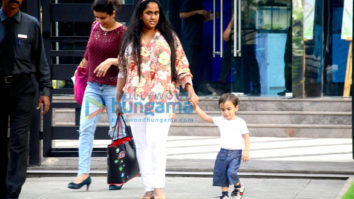 Arpita Khan snapped with baby Ahil at BKC