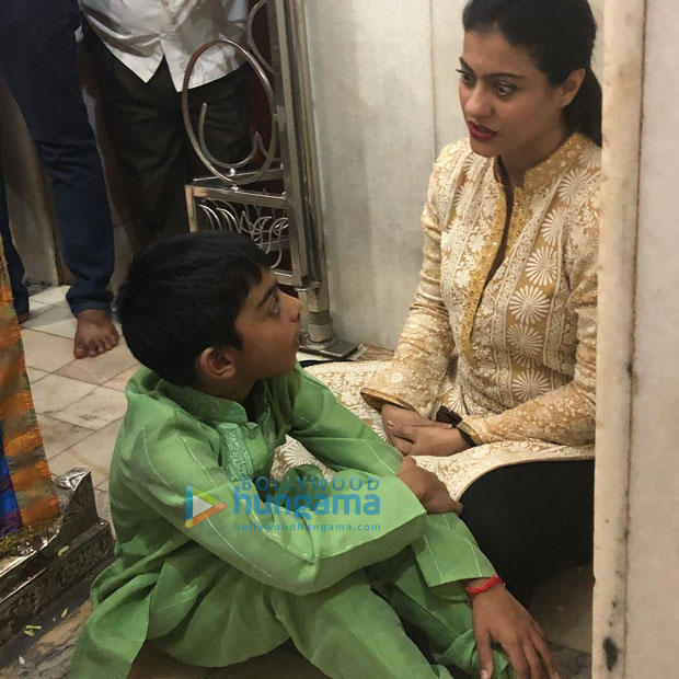 Check out Kajol takes son Yug and family to seek blessings at Siddharoodh Mutt Kajol is a doting mother and a family person. The actress spends as much time as possible with her kids and family whenever not working. On Thursday, Kajol to