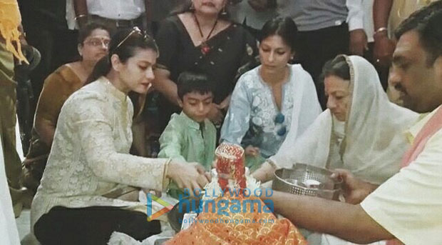 Check out Kajol takes son Yug and family to seek blessings at Siddharoodh Mutt Kajol is a doting mother and a family person. The actress spends as much time as possible with her kids and famiworking. On Thursday, Kajol to