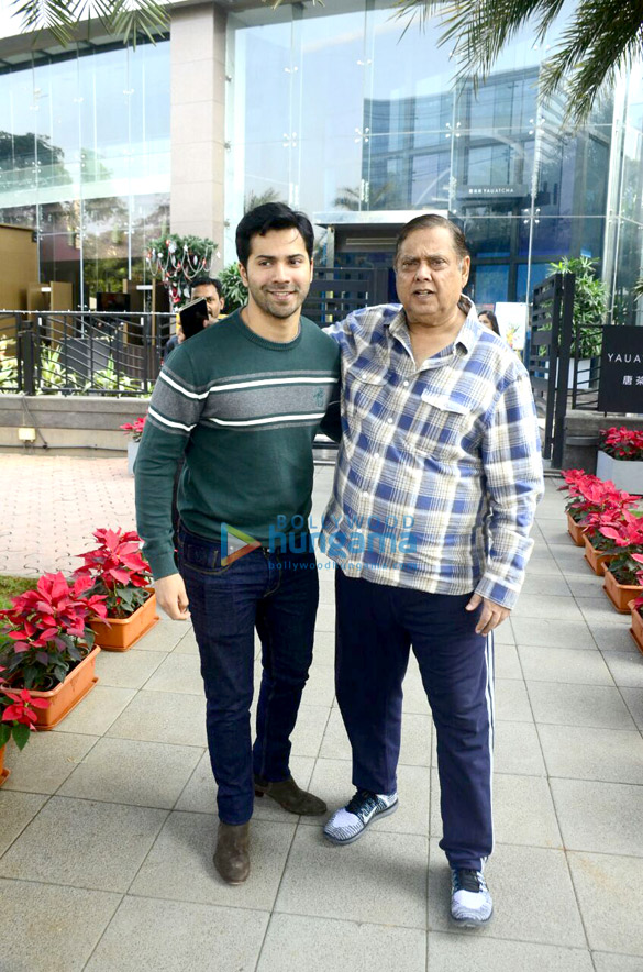 David Dhawan snapped with family