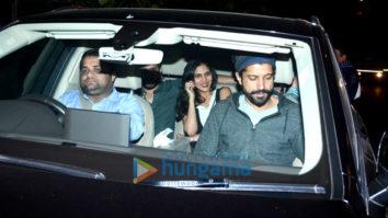 Farhan Akhtar, Ritesh Sidhwani, Shweta Nanda and Karan Johar spotted at Zoya Akhtar's house